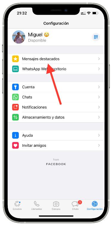 mensajes destacados de WhatsApp 1