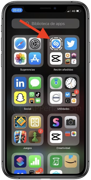 Cilp de Shazam en iOS
