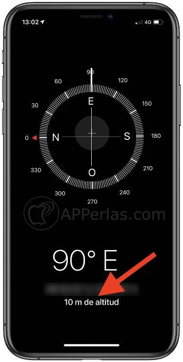 Datos de altitud en el iPhone
