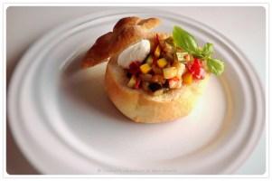Presentazione in stile fine-dining :: Il Ciabotto su piatto di porcellana