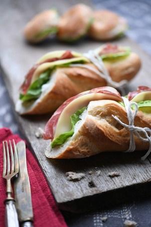 Italian panini :: Baguette with coppa, provolone, lettuce:: Recipe & Styling: Orsola Ciriello Kogan | Photo ©LuciaZeccara