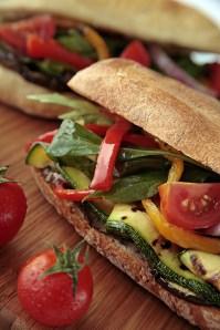 Italian panini :: Ciabatta with roasted vegs :: Recipe & Styling: Orsola Ciriello Kogan | Photo ©LuciaZeccara