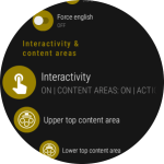 Customizable Interactivity & a Wath Face Action Button