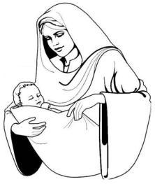 Maria met het kindje Jezus