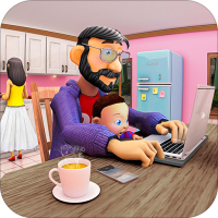 Virtual Work From Home Family Game