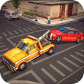 Tow Truck Car Transporter Driving and Parking
