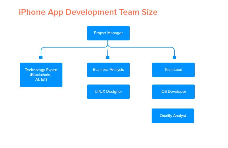 Размер команды разработчиков приложений для iPhone