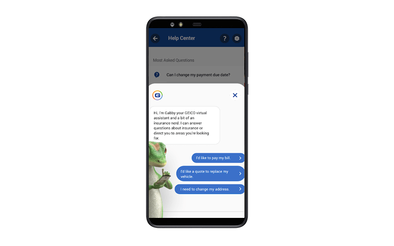 insurance app contact feature