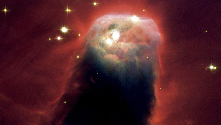 Nebulosa conica de una estrella en formacion