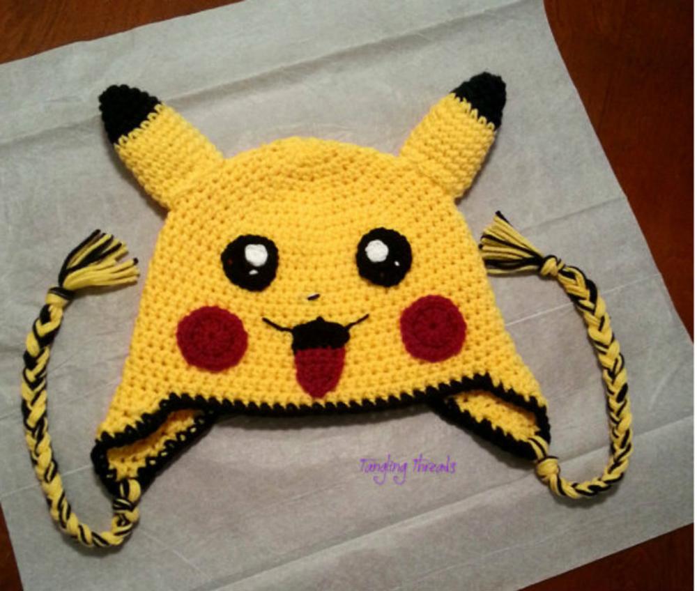 gorro pokemon pikachu