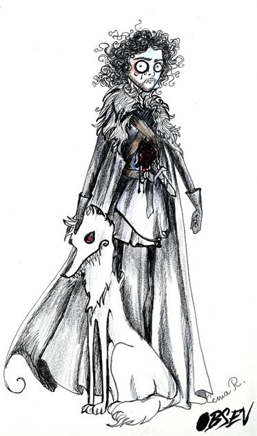 Game of Thrones Tim Burton Jon Snow