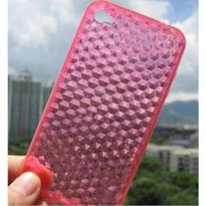 TPU Case Apple iPhone 4   4S Diamond Pattern Pink
