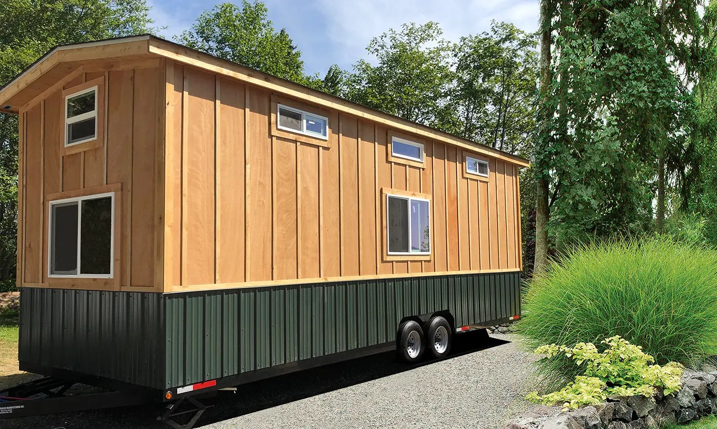 Tiny home from scratch with energy-efficiency