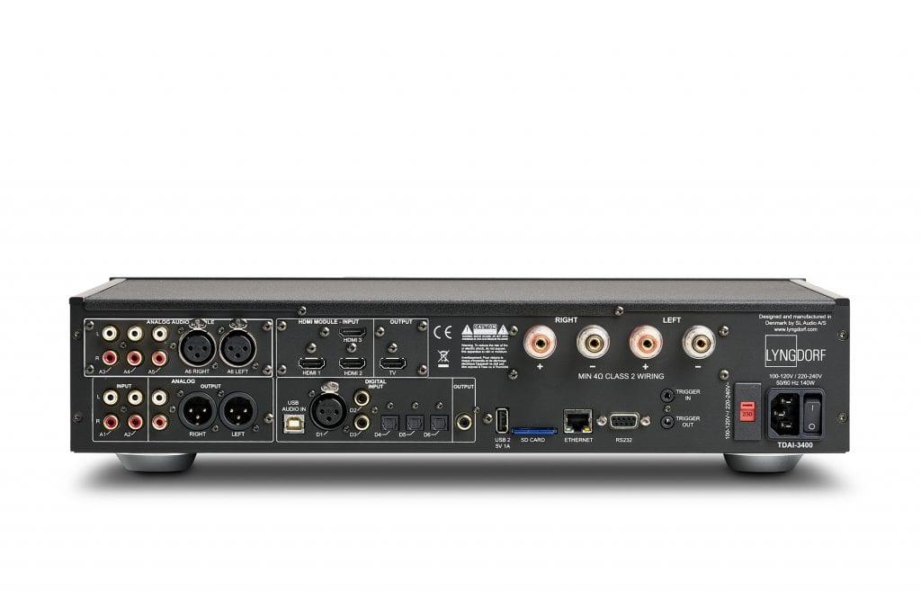 Lyngdorf TDAI 3400 Amplifier Back