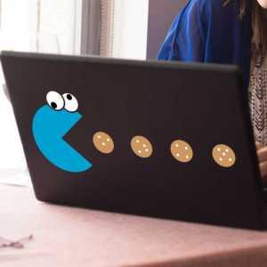 Laptop sticker Cookie Monster Pac Man