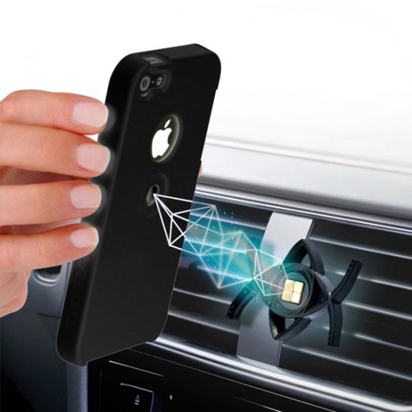 Tetrax Apple iPhone 5 / 5S / SE XCase + Smart houder - Zwart