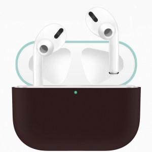 Voor Apple AirPods Pro tweekleuren draadloze oortelefoon beschermhoes (groen bruin)