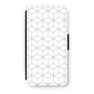 iPhone 7 Plus Flip Hoesje - Zwart-witte kubussen