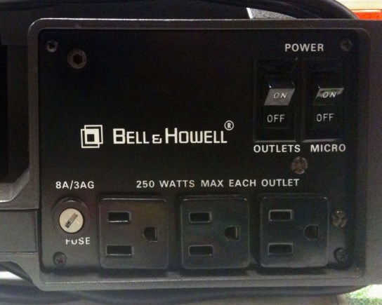 Bell & Howell back panel, right