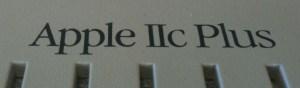 Apple IIc Plus nameplate