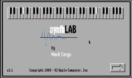 synthLab splash screen