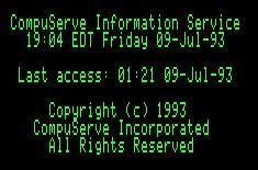CompuServe logon text, 1993