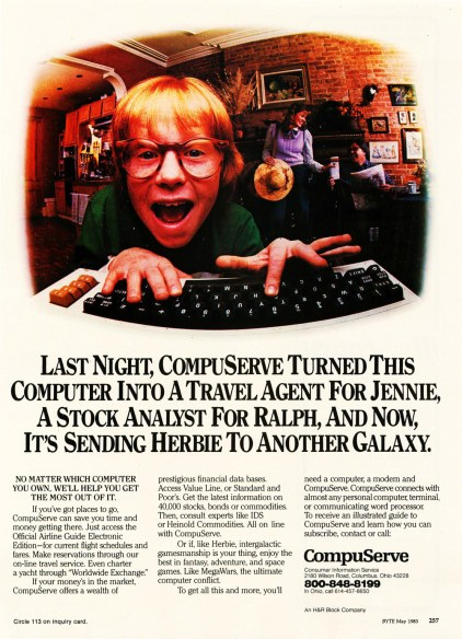 CompuServe ad, May 1983