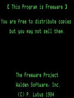 FreeWriter splash screen