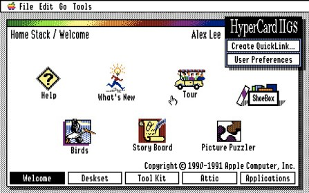 HyperCard IIGS screen shot