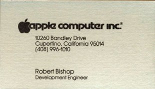 Bishop business card