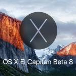 نظام ماك OS X 10.11 El Capitan Beta 8 التجريبي