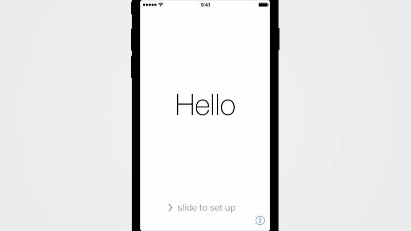 شاشة اسحب للترقية في إعداد iOS 9