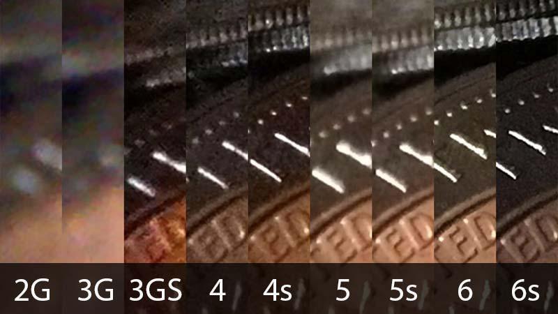 مقارنة 2 كاميرات الايفون حتّى الايفون 6s