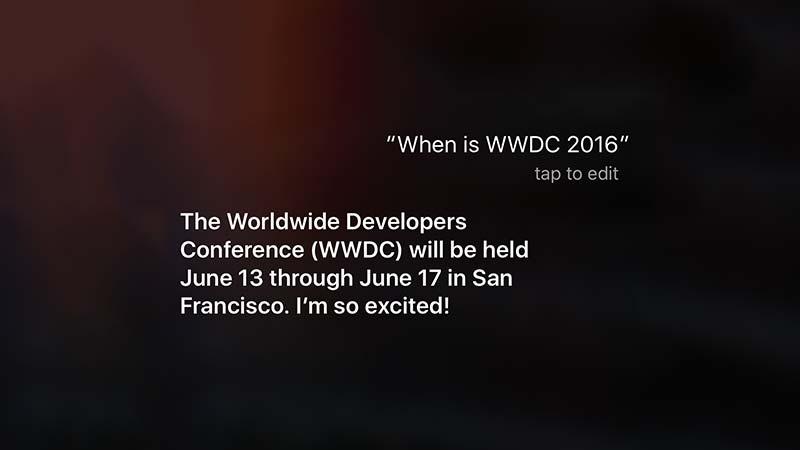 سيري مؤتمر WWDC 2016
