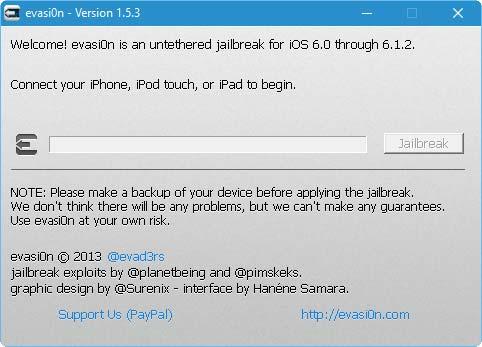 برنامج evasi0n لجيلبريك iOS 6