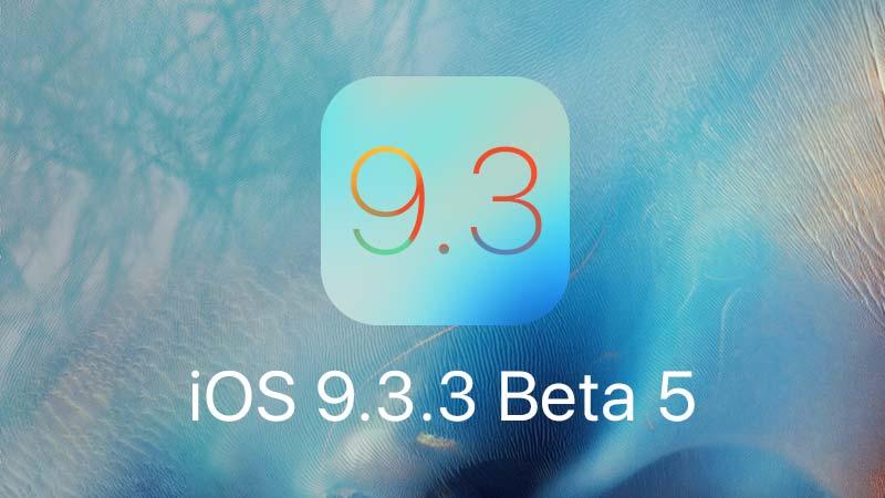 تحديث iOS 9.3.3 بيتا 5