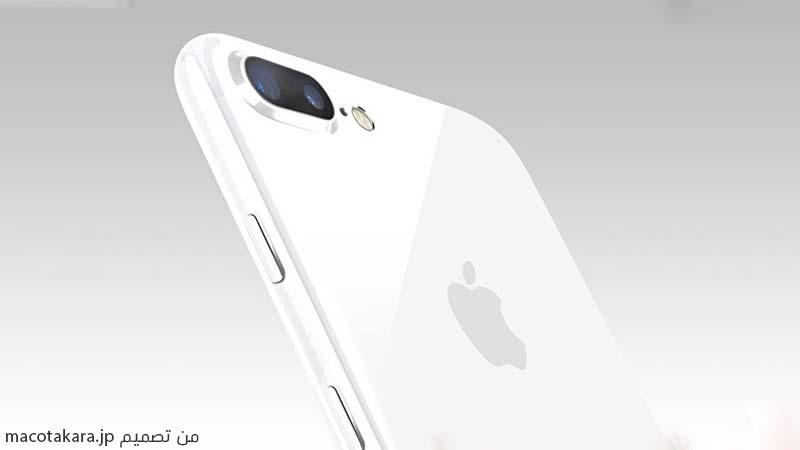 الايفون 7 بلس باللون الأبيض اللامع