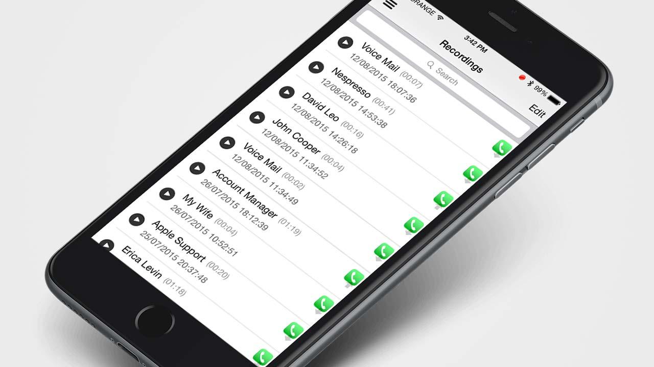 أداة تسجيل مكالمات iOS 10