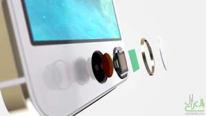 داخل قارئ Touch ID في ايفون 5s