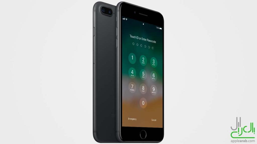 رمز دخول iOS 11 ايفون 7 بلس