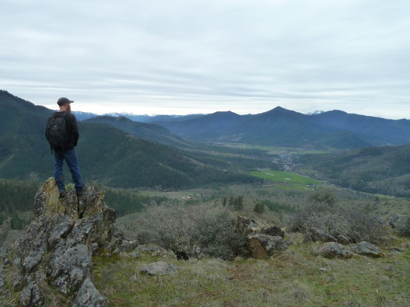 A view from the proposed East Applegate Ridge Trail looking southwest towards Ruch, Oregon.