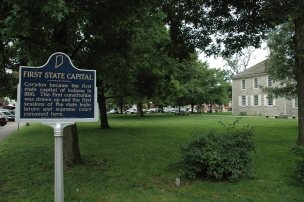 First State Capital sign, Corydon