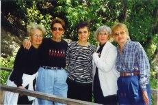 Sue, Grace, Barb, Rica, Ann, April, 1999, New Braunfels reunion