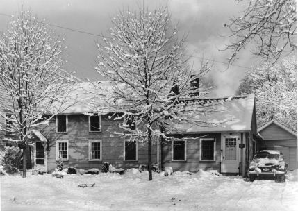 Our Corydon home, probably winter 1946
