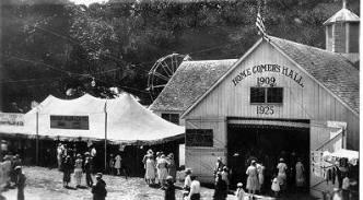 Scene from an early Harrison County Fair in Corydon