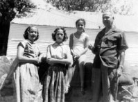 Sue, Rica, Barb, Ted, about 1952