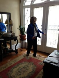 Jane in childhood home of Ted Applegate in 2013