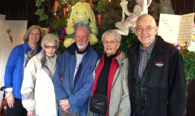 Jane, Kent's lady friend, Kent Gordon, Grace, Richard, March 2013, Morristown