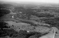 SR 62 from east looking west; Country Club, lower left; Corydon
