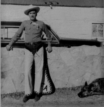 Ted in Sheriff's Posse outfit, 1951, Monahans